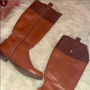 🍂 Tommy Hilfiger Two Toned Brown Riding Boots